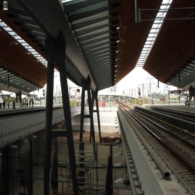 """Train Station, Amsterdam"" stock image"