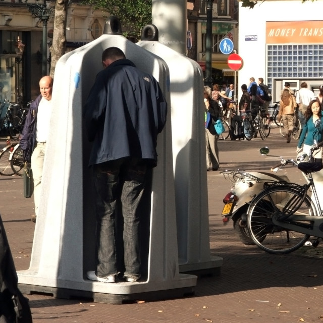 """Urinal, Amsterdam"" stock image"