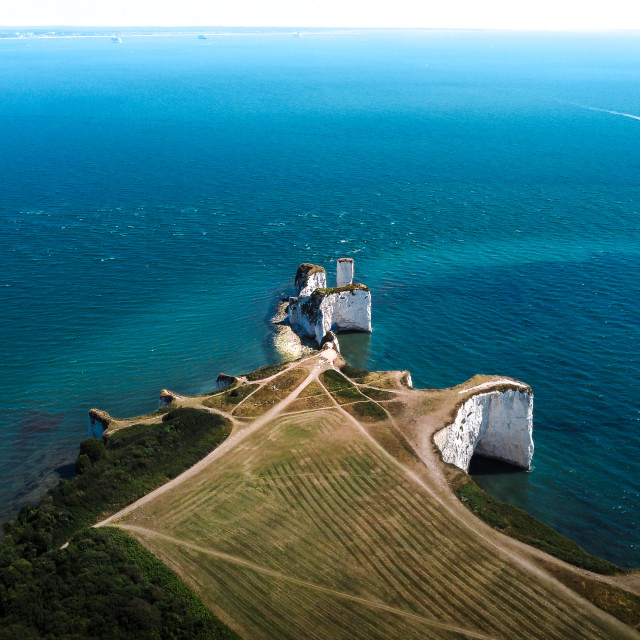 """""""Old Harry Rocks South View"""" stock image"""