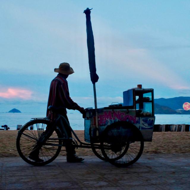 """Nha Trang beach in sunset"" stock image"