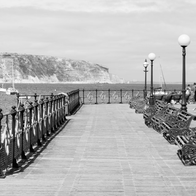 """Swanage Pier"" stock image"