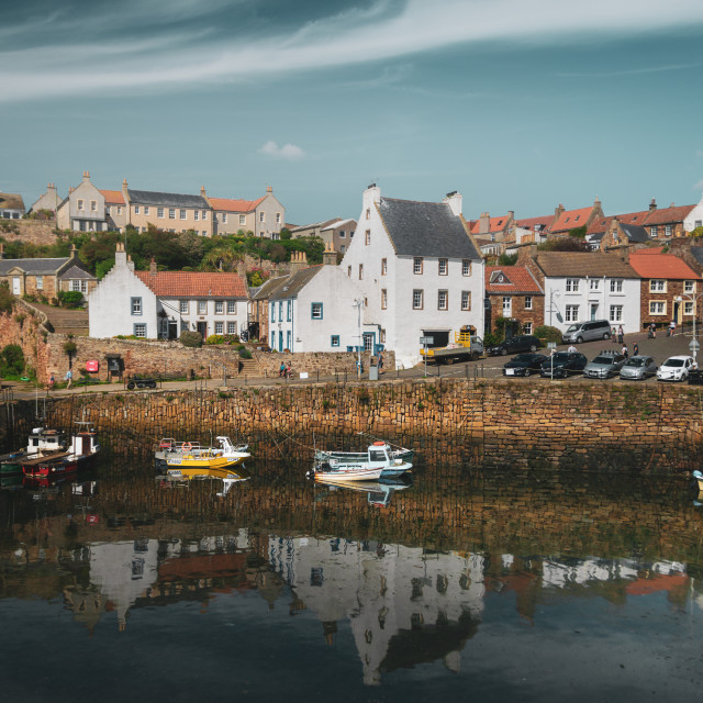 """""""Reflection Time in Crail"""" stock image"""