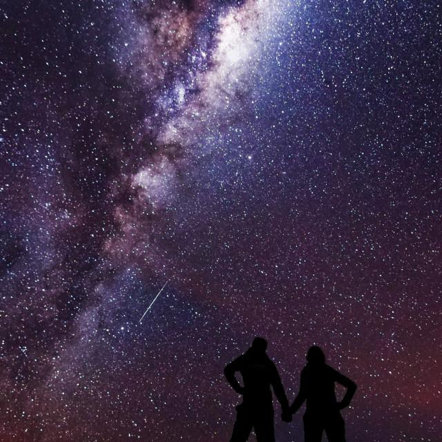 """Date night under the stars"" stock image"