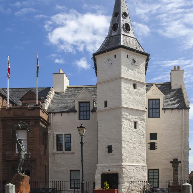 """""""Dunbar Town House, Dunbar, Scotland"""" stock image"""