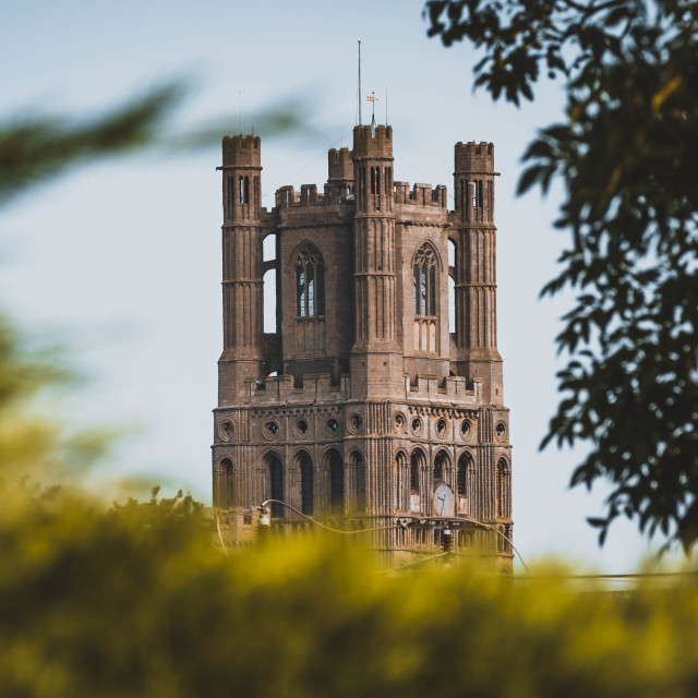 """""""The Octagon Tower of Ely Cathedral, Cambridgeshire, UK."""" stock image"""