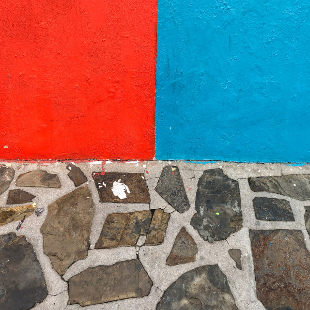 """Colorful primary colors at Bo Kaap"" stock image"
