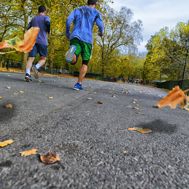 """Running in Hyde Park, london"" stock image"