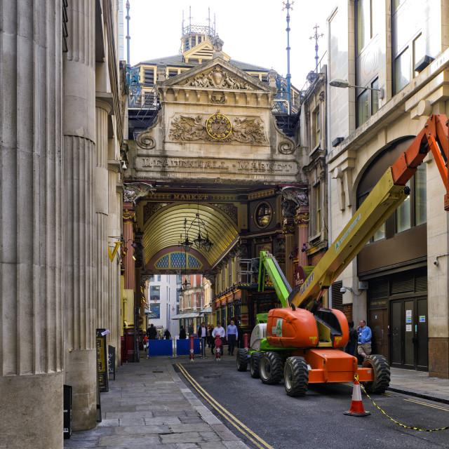 """Entrance to Leadenhall market"" stock image"
