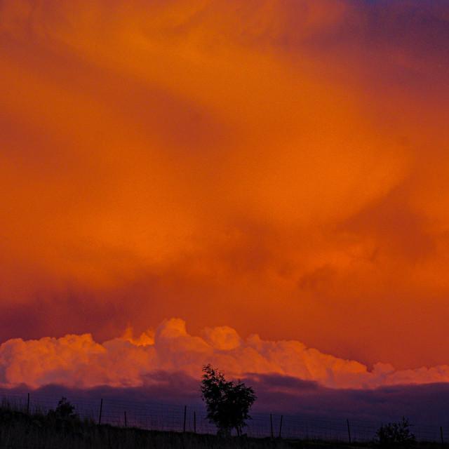 """Fire Sky"" stock image"
