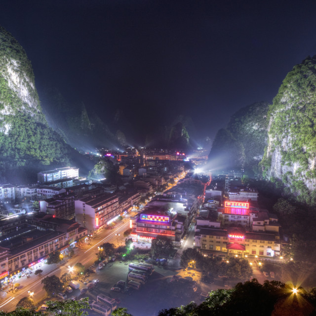 """The city of Yangshuo"" stock image"