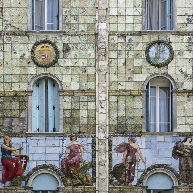"""Art Nouveau Hotel Frontage, Lido, Italy"" stock image"