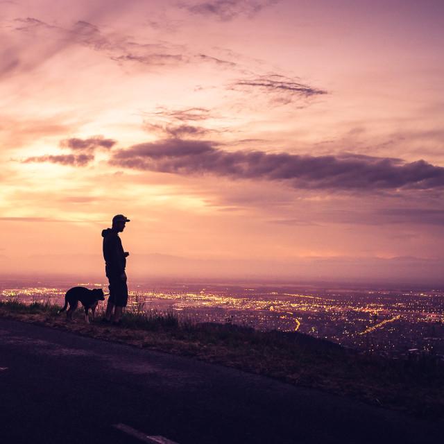 """Christchurch Sunset"" stock image"
