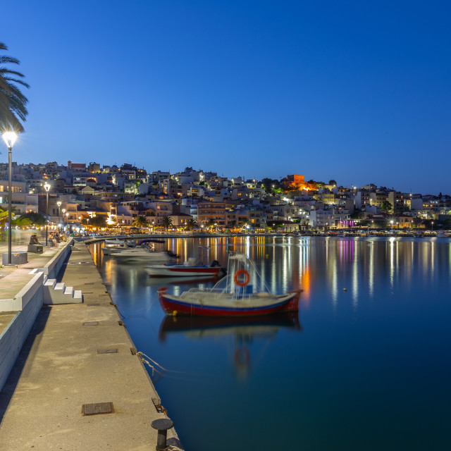 """Sitia City Crete"" stock image"