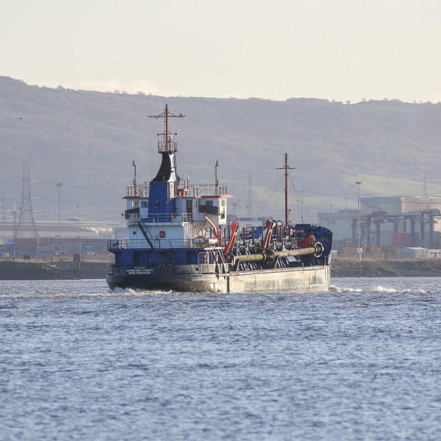 """Merchant ship"" stock image"