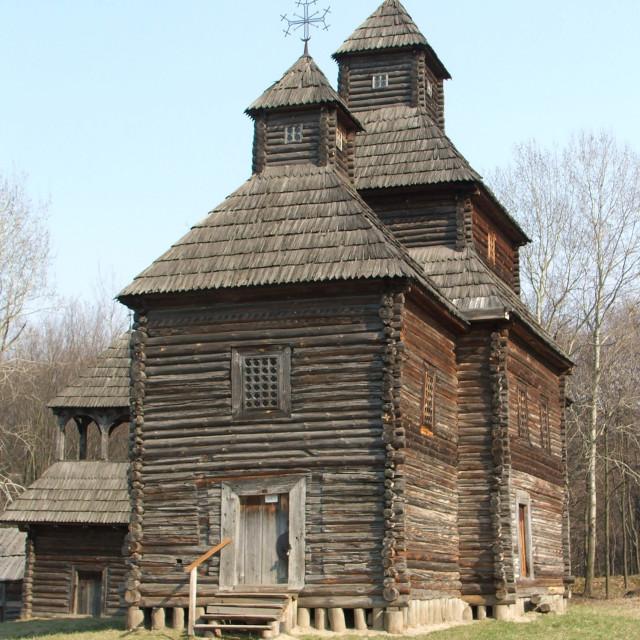 """National Museum of Folk Architecture and Life of Ukraine (Pyrohiv/Pirogovo)"" stock image"