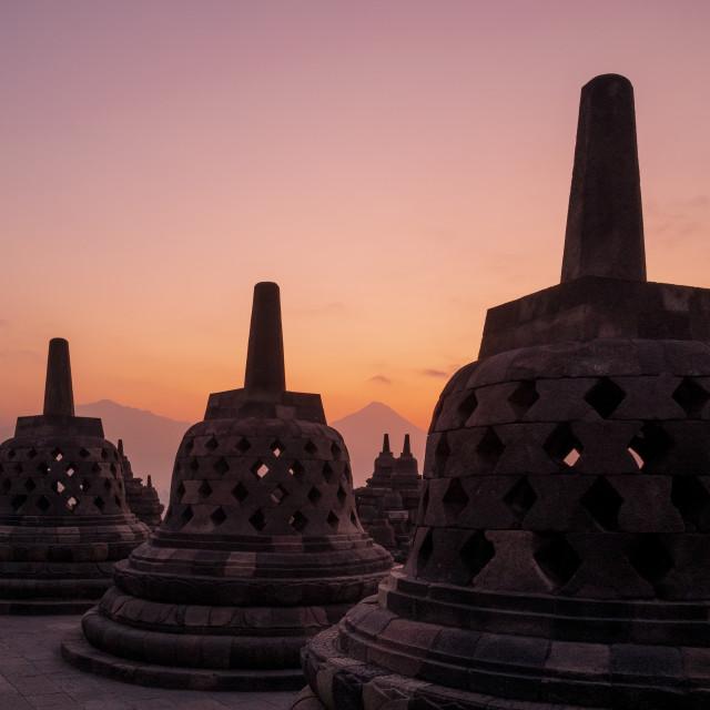 """""""Borobudur in Java, Indonesia"""" stock image"""