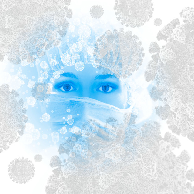 """""""Covid-19 infection control, conceptual image"""" stock image"""