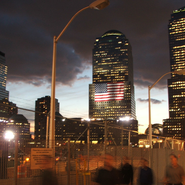 """Ground Zero, NYC, September 11th 2006"" stock image"