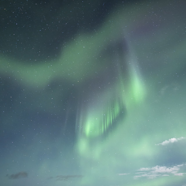 """Aurora Borealis Northern Lights in Abisko, Sweden"" stock image"