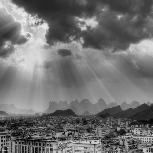 """The city of Guilin"" stock image"