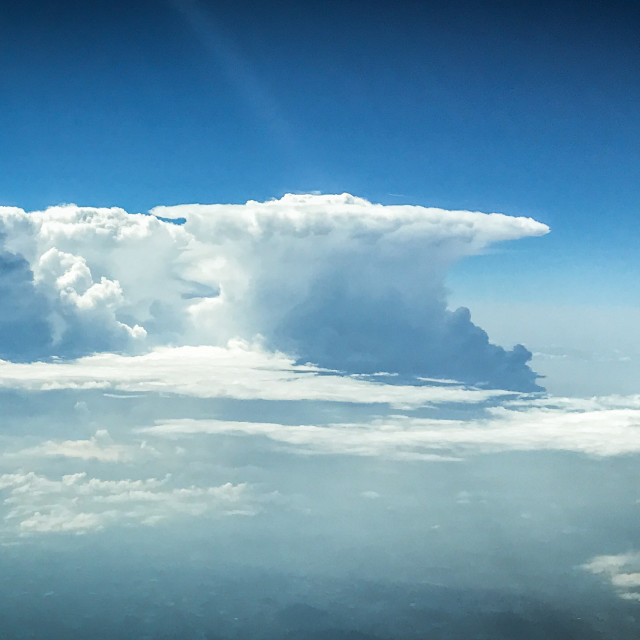 """""""Storm clouds building"""" stock image"""