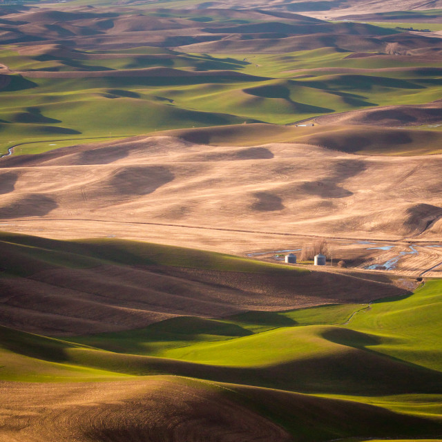 """Rolling hills of Washington State's Palouse region"" stock image"