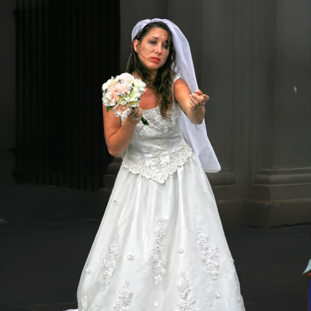 """""""New Orleans Bride"""" stock image"""