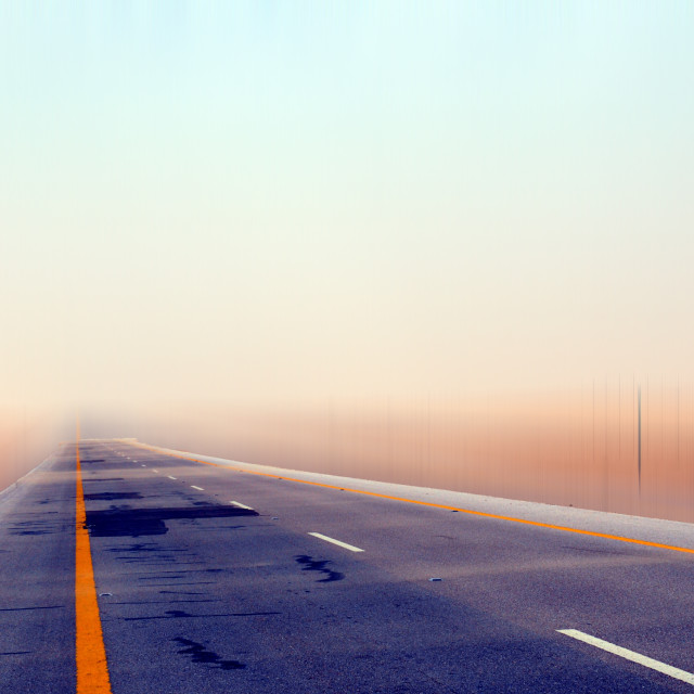 """""""Desert Road"""" stock image"""