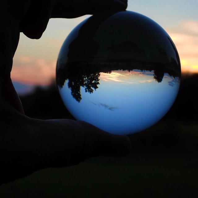 """Crystal Ball Sunset"" stock image"