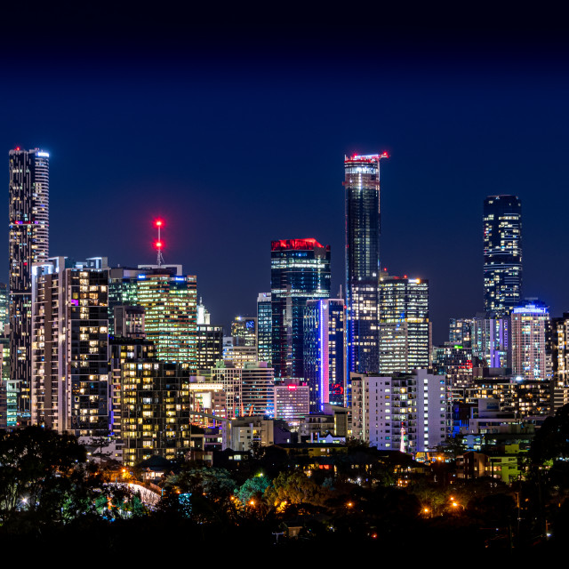 """Brisbane City Skyline"" stock image"