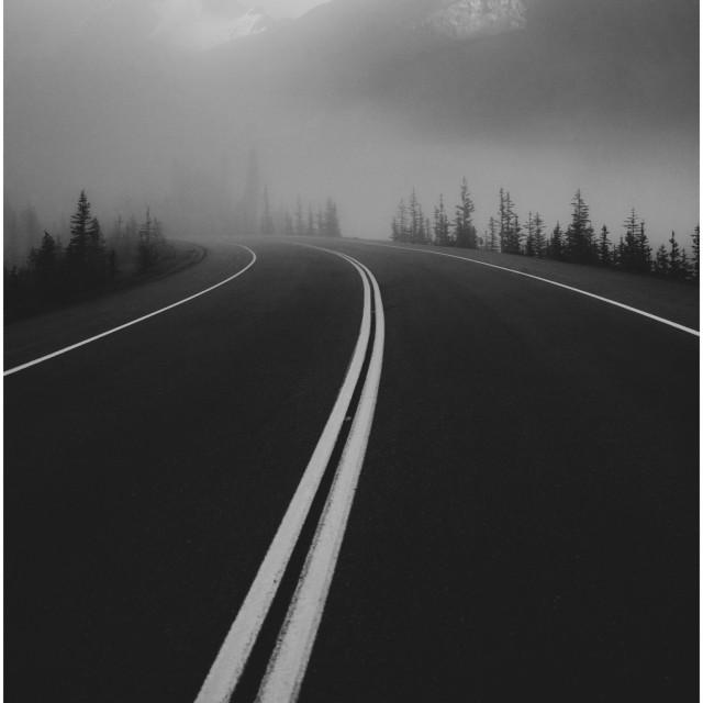 """Ice-fields Parkway, Banff"" stock image"
