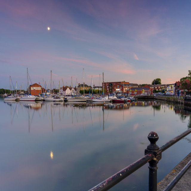 """Fareham Old Town Quay, Hampshire, UK"" stock image"