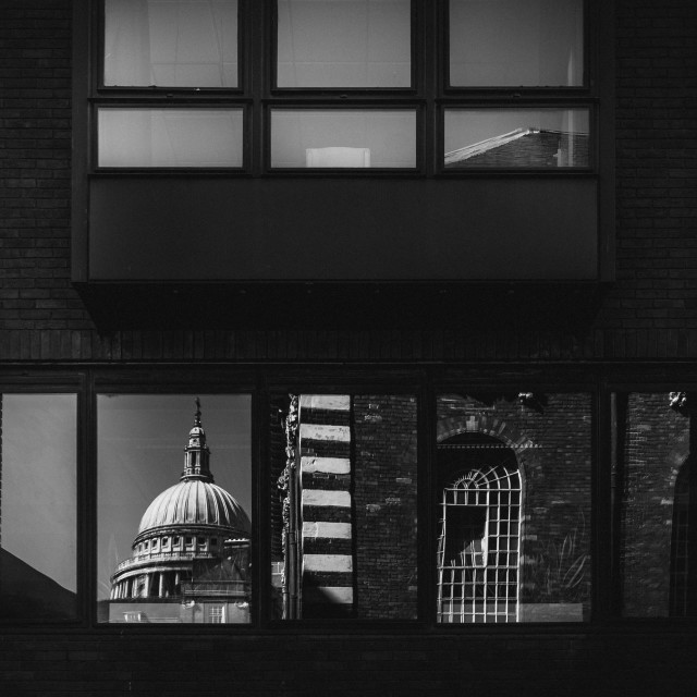 """London reflections"" stock image"