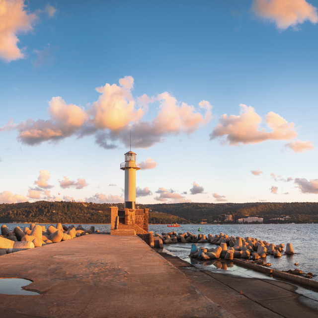 """The lighthouse in Varna, Bulgaria"" stock image"