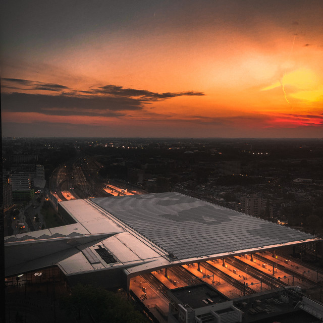 """""""Rooftop sunset"""" stock image"""