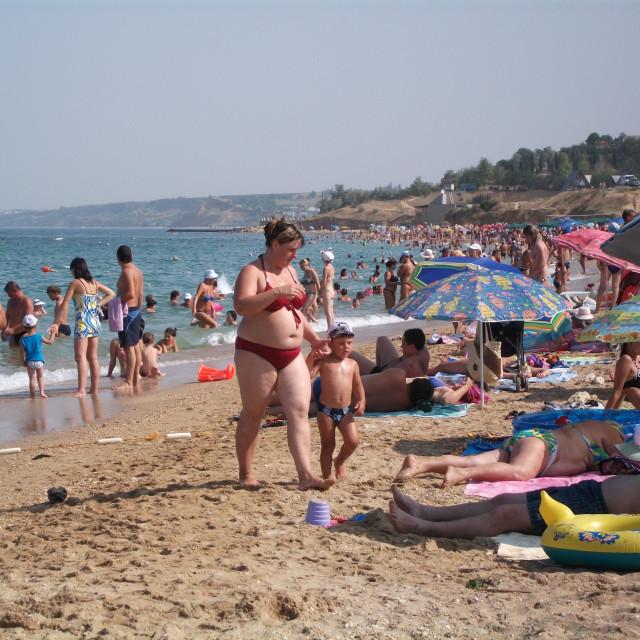 """Beach, Sevastopol, Crimea, Ukraine"" stock image"