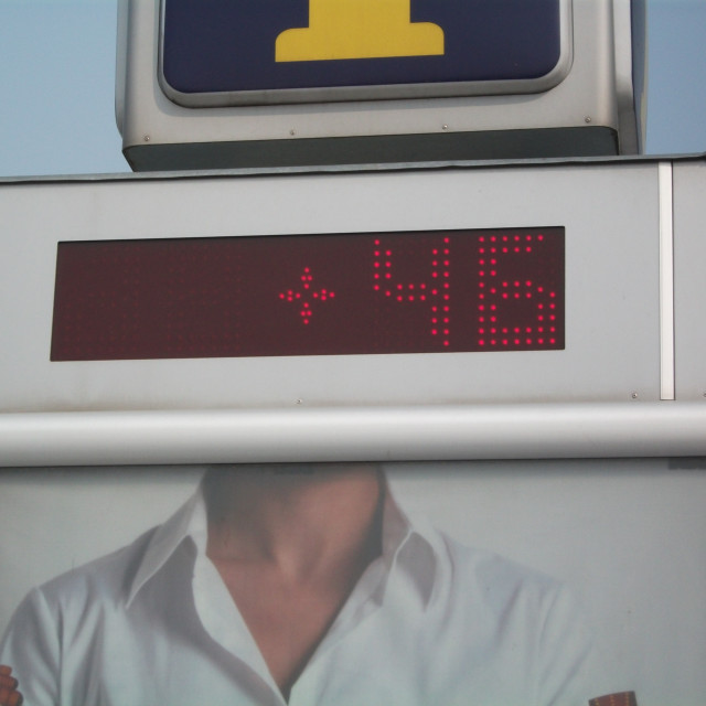 """""""46 Degrees Celsius"""" stock image"""