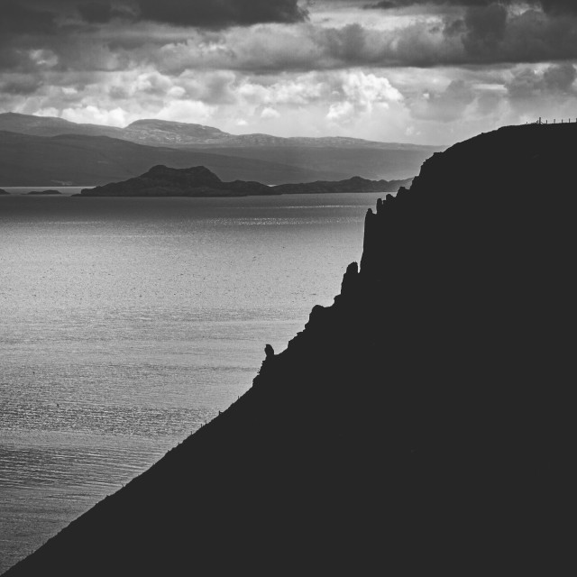 """""""Scotich landscape in b&w"""" stock image"""