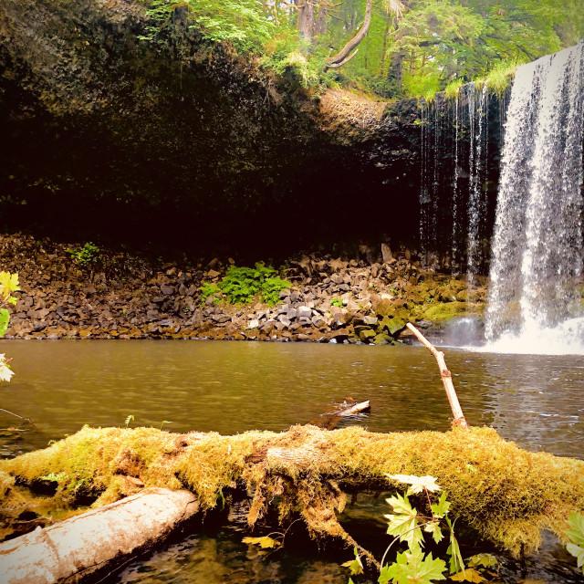 """Waterfall Hideaway"" stock image"