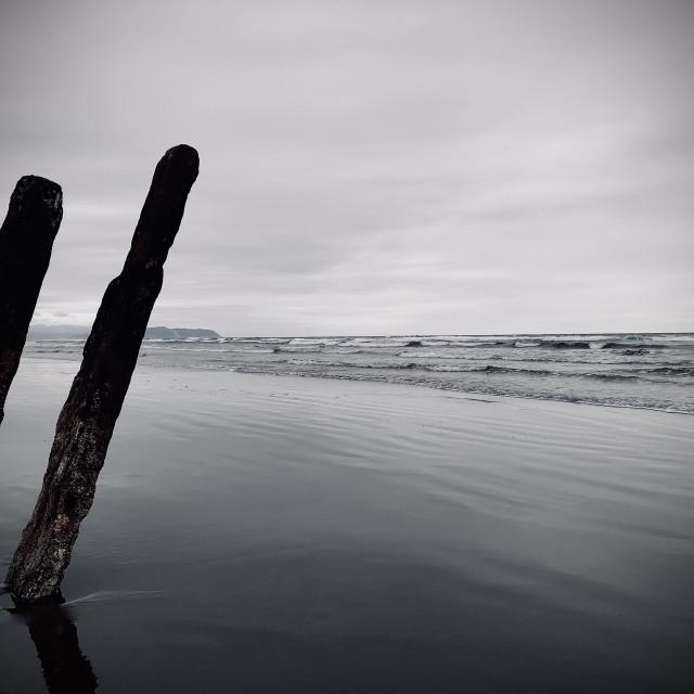 """""""Beach Twin"""" stock image"""