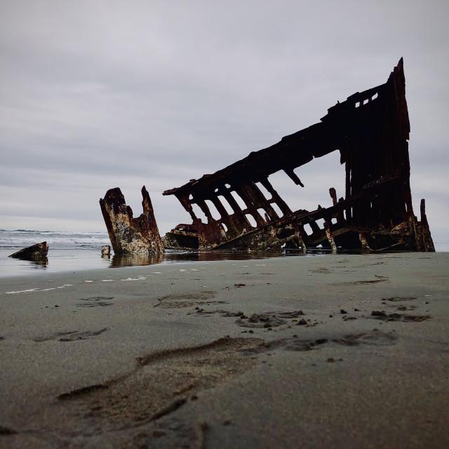 """""""A Ship Ashore"""" stock image"""