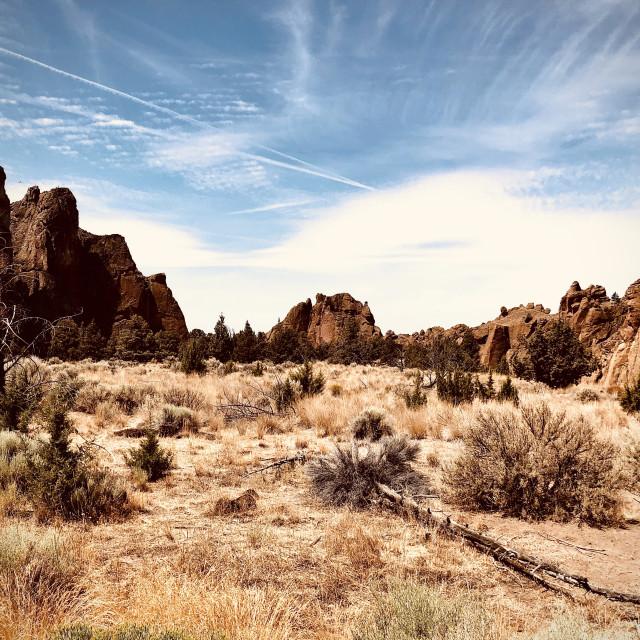 """""""The Shining Desert"""" stock image"""
