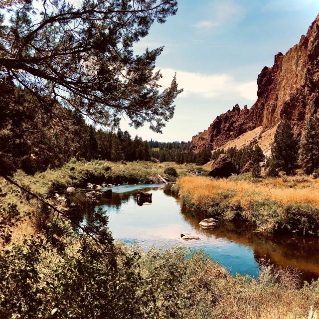 """""""Lazy Desert River"""" stock image"""