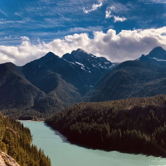 """""""Lakes, Mountains, Sky"""" stock image"""