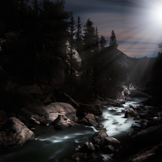 """Moonlight River #1"" stock image"