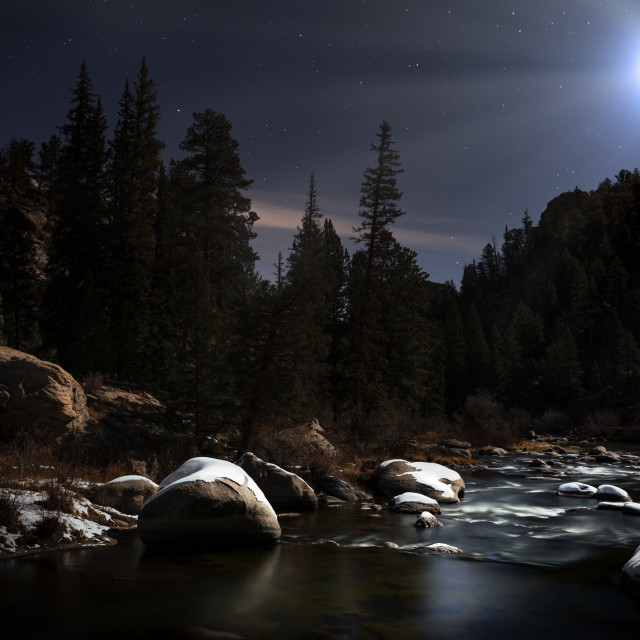 """Moonlight River #2"" stock image"