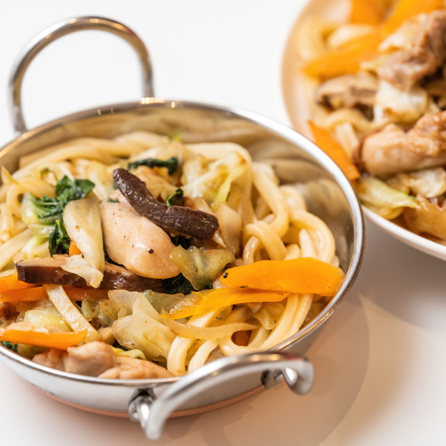 """Chicken Udon"" stock image"