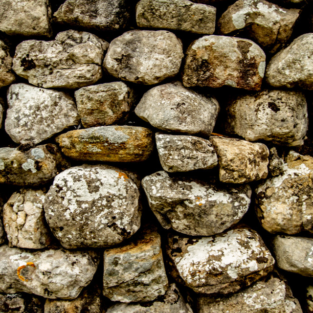 """Dry Stone Wall in Kettlewell a Yorkshire Dales Village,"" stock image"