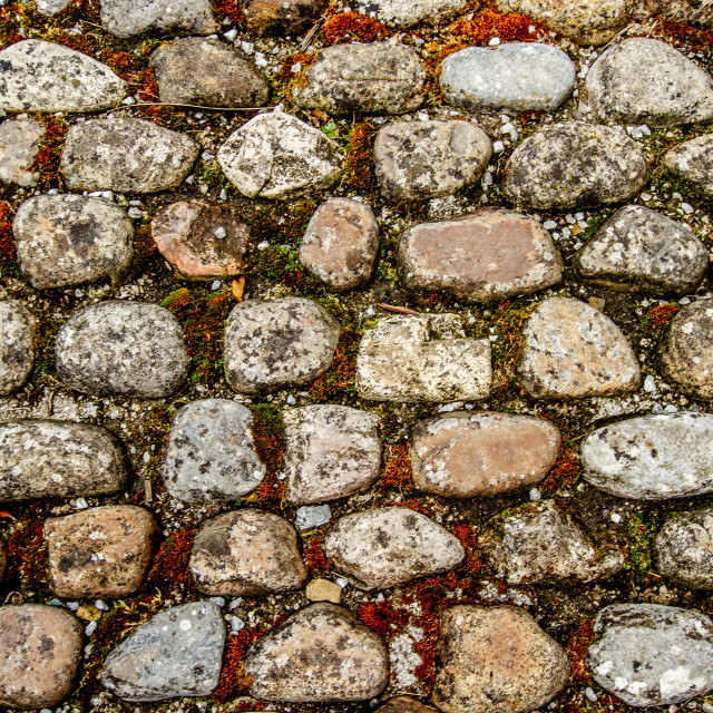 """Stone Cobbles in Kettlewell, Wharfedale,"" stock image"