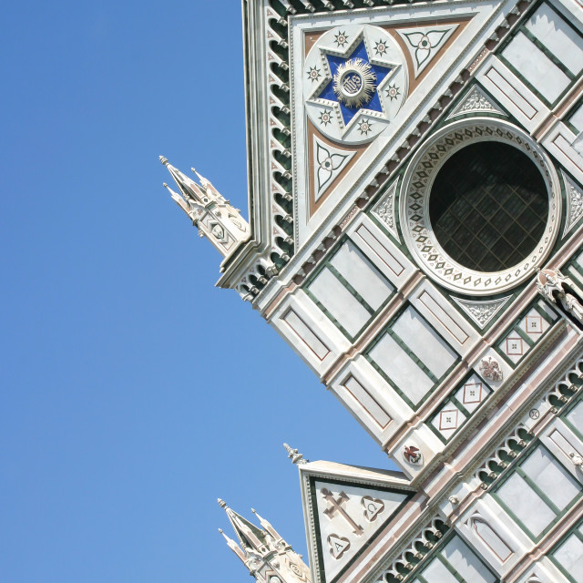 """Church of Santa Croce, Florence, Italy"" stock image"